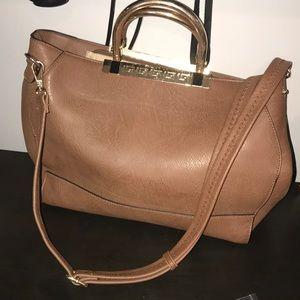 Real leather crossbody/satchel handbag